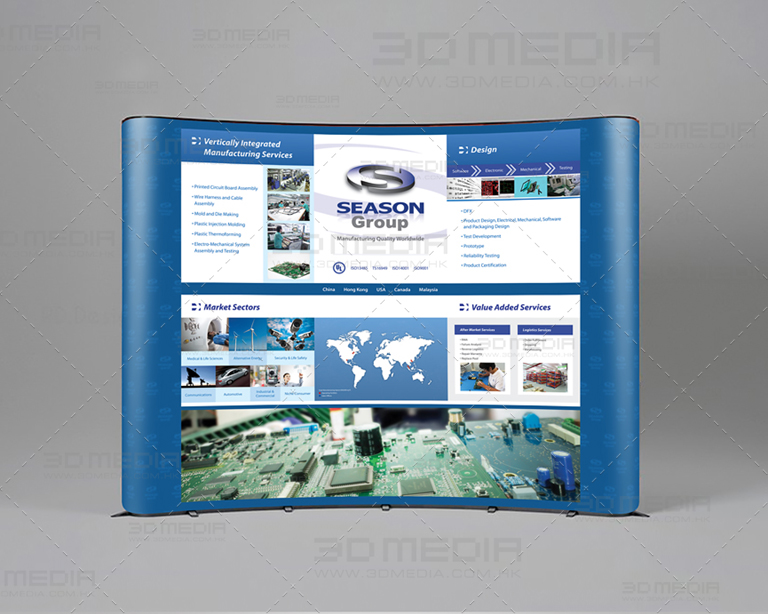 Electronics Company Popup Display Design and Printing