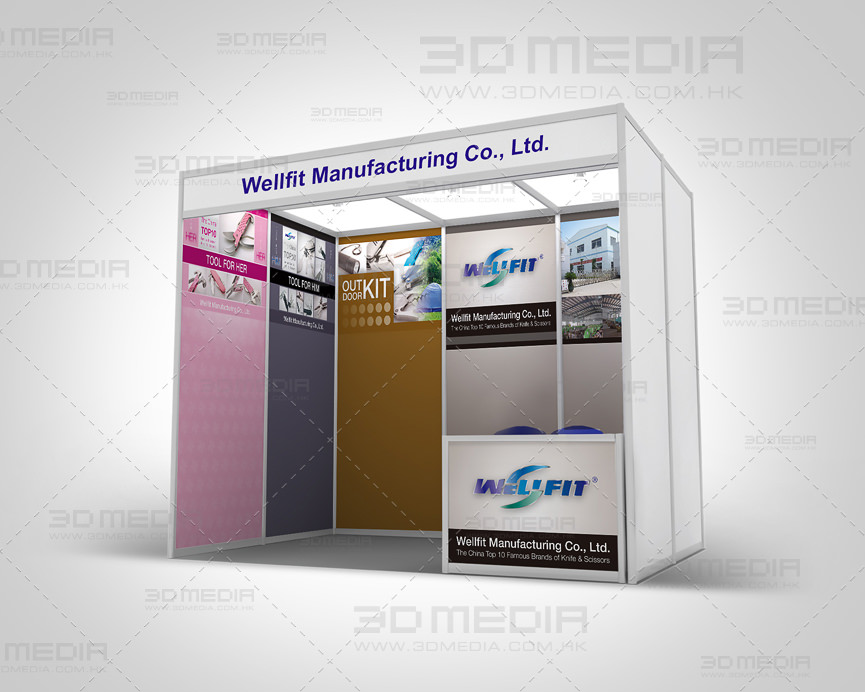 Exhibition Booth Backdrop : Exhibition booth design printing 3d media