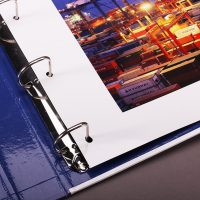Port Company Paper Ring Binder Design and Printing