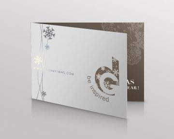 button Company Christmas Card Design and Printing