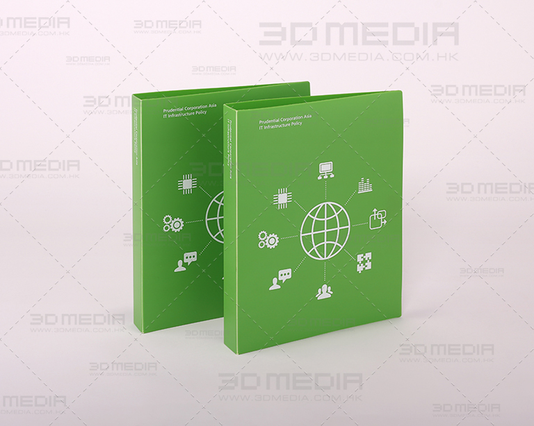 Insurance Company PP Plastic Ring Binder Design and Printing