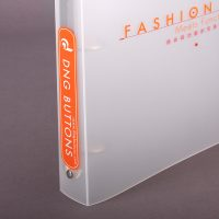 button Company PP Plastic Ring Binder Design and Printing