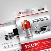 電池公司的雜誌廣告設計 Battery Company Flyer Design