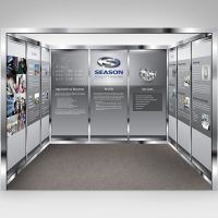 電子產品企業展覽攤位設計及印刷 Electronics Company Exhibition Booth Design and Printing