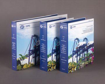 貨櫃公司的紙活頁文件夾印刷及設計 Port Company Paper Ring Binder Design and Printing