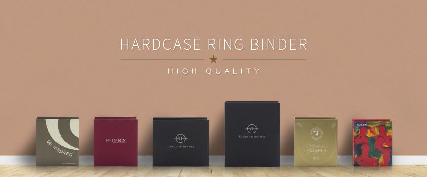 硬皮活頁文件夾印刷 Hard Case Ring Binder Printing