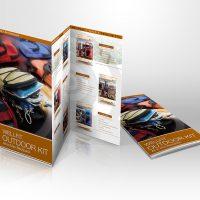 戶外用品公司的宣傳單張設計及印刷 Outdoor Company Leaflet Design and Printing