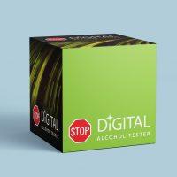 電腦用品公司的酒精測試儀外包裝設計印刷 Computer Company Alcohol Tester Outer Box Packaging Design and Printing