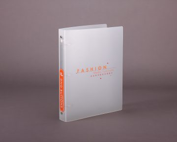 鈕扣公司的PP塑膠活頁文件夾印刷及設計 button Company PP Plastic Ring Binder Design and Printing