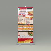 餐廳的易拉架設計及製作 Restaurant Roll Up Banner Design and Printing
